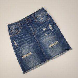 Mossimo Distressed Denim Skirt Size 4/27